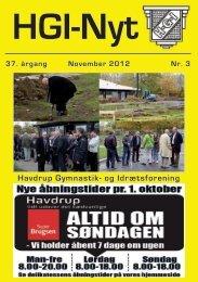 37.årgang - november 2012 - nr. 3 - HGI Nyt