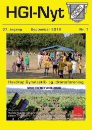 37.årgang - september 2012 - nr. 1 - HGI Nyt