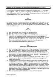 Satzung der Stadtbibliothek - Stadt Filderstadt
