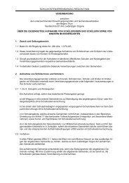 Schulkostenvereinbarung Region Thun