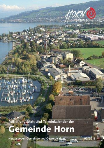 Mitteilungsblatt 05/2013 - in der Gemeinde Horn