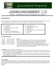 JAHRGANGSBRIEF 1/2 - Grundschule Borgsdorf