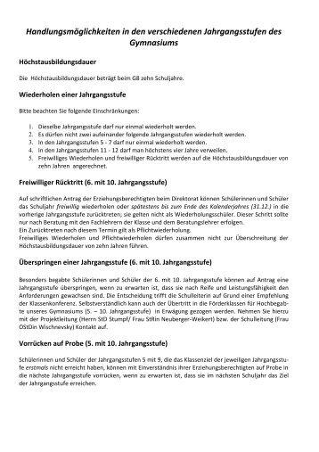 Beratung zum Zwischen- und Jahreszeugnis - Otto-von-Taube ...