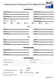 Aufnahmeantrag für die Jahrgangsstufe 11/EF Schuljahr 2014/2015