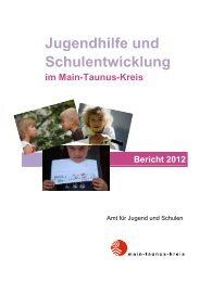 Jugendhilfe und Schulentwicklung 2012 - Main-Taunus-Kreis