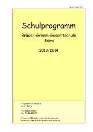 Schulprogramm 2013_2014 - Brüder Grimm Gesamtschule