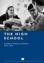 High School Handbook 2013/14 - Berlin Brandenburg International ...