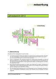 Jahresbericht 2012 - Fachstelle Elternmitwirkung