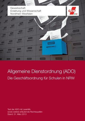 Allgemeine Dienstordnung (ADO) - GEW