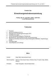 Protokoll vom 14. Juni 2013 - Gemeinde Gränichen