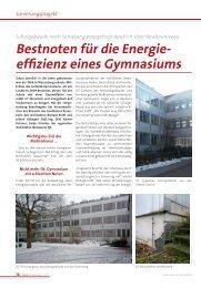 Bestnoten für die Energie- effizienz eines Gymnasiums