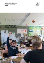 Evaluationsbericht Eselriet, Oktober 2012 - Stadt Illnau-Effretikon