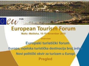 novi politički okvir za turizam u europi