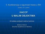 HACCP U MALIM OBJEKTIMA - Hrvatska gospodarska komora