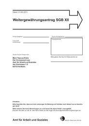 Weitergewährungsantrag SGB XII - Main-Taunus-Kreis