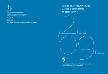 Katalog savjetodavnih usluga Grupacije konzultanata za gospodarstvo