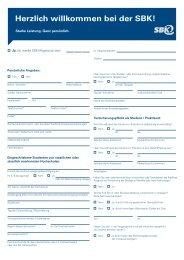 Beitrittserklärung für Studenten und Praktikanten - SBK