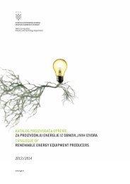 Katalog za proizvodnju energije iz obnovljivih izvora energije