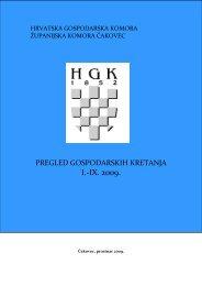 I.-IX. 2009. - Hrvatska gospodarska komora