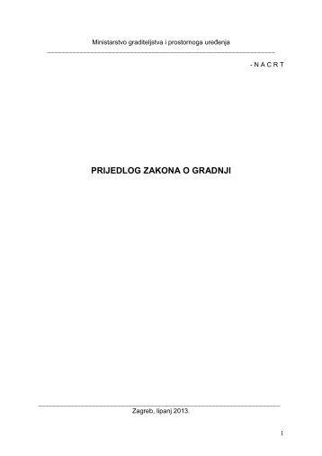 Zakon o gradnji - nacrt s obrazloženjem - Hrvatska gospodarska ...