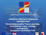 operativni program za regionalnu konkurentnost 2007 – 2011 ...