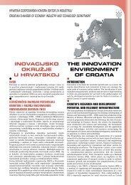 inovacijsko okružje u hrvatskoj the innovation environment of croatia