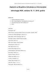 Zapisnik sa Skupštine Udruženja za informacijske tehnologije HGK ...