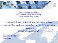 """""""Mogućnosti razvoja kvalitete pružanja usluga turističkog vođenja ..."""