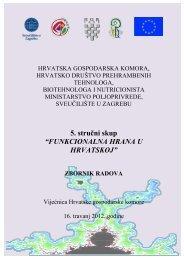 FUNKCIONALNA HRANA U HRVATSKOJ - Hrvatska gospodarska ...