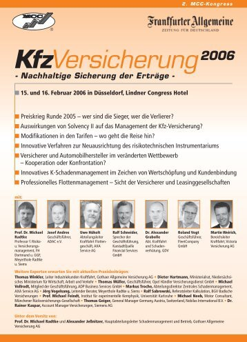 KfzVersicherung 2006 - Institut für Experimentelle Kernphysik