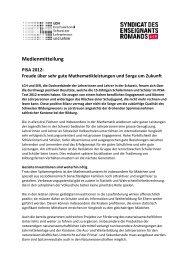 Medienmitteilung Deutsch (PDF 147 KB) - LCH