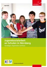 Broschüre Jugendsozialarbeit an Schulen, 2013 - Stadt Nürnberg
