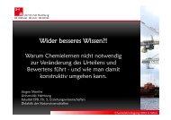 Wider besseres Wissen?! Warum Chemielernen nicht notwendig zur ...