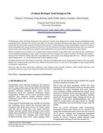 Evaluasi Berbagai Algoritma Kompresi File