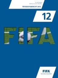 TÄTIGKEITSBERICHT 2012 - FIFA.com