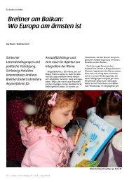 Breitner am Balkan: Wo Europa am ärmsten ist