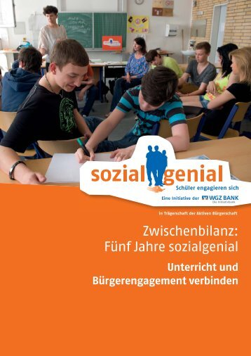 Zwischenbilanz: Fünf Jahre sozialgenial - Aktive Bürgerschaft e.V.