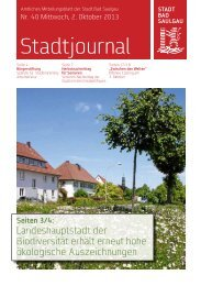 Stadtjournal Ausgabe 40/2013 - Stadt Bad Saulgau