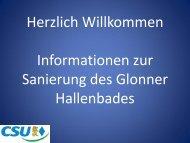 Bericht des Gemeinderats durch den Fraktionssprecher - CSU Glonn