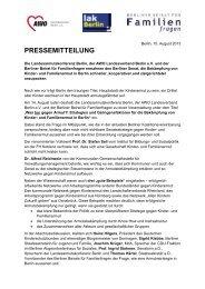 Pressemitteilung vom 15.08.2013 - Berliner Beirat für Familienfragen