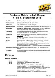 Zeitplan - Deutscher Schützenbund eV