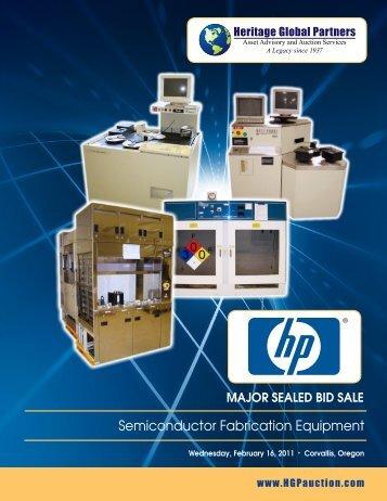 Semiconductor Fabrication Equipment - Liquidation Auction ...