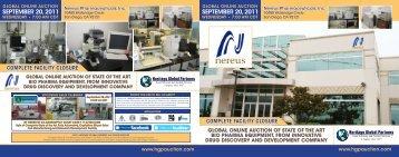 Nereus Pharmaceuticals, Inc - Liquidation Auction - Equipment ...