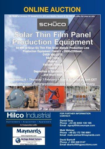 brochure (pdf) - Liquidation Auction - Equipment Auctions| HGP ...