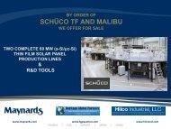 schüco tf and malibu - Liquidation Auction - Equipment Auctions ...