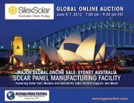 solar panel manufacturing facility - Liquidation Auction - Equipment ...