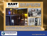optics,llc - Liquidation Auction - Equipment Auctions  HGP Industrial ...