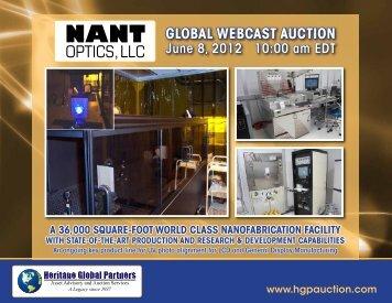 optics,llc - Liquidation Auction - Equipment Auctions| HGP Industrial ...