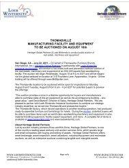 here - Liquidation Auction - Equipment Auctions| HGP Industrial ...