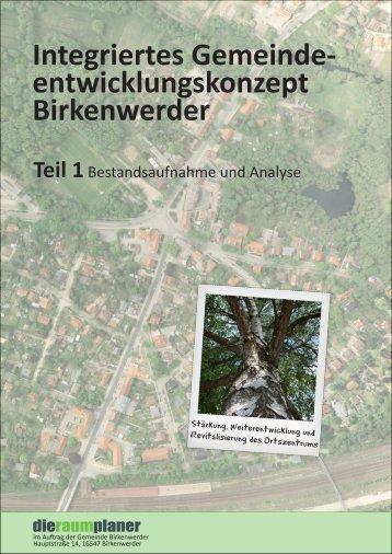 entwicklungskonzept Birkenwerder - Handel- und Gewerbetreff ...